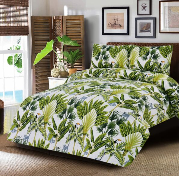 Forest Tree Printed Kids Bed Sheet