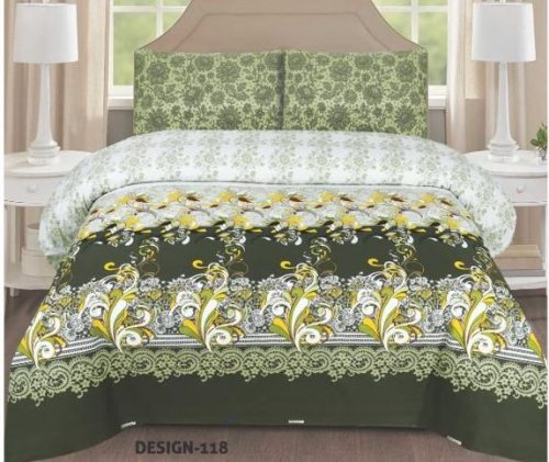 Green Printed Bed Sheets