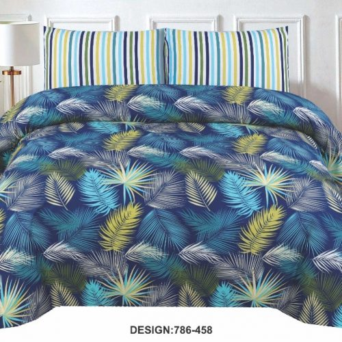 Leaf Printed Bed Sheets