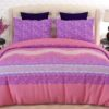 Pink and Purple Printed Bed Sheets