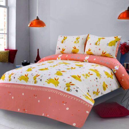 Rabbit Character Kids Bed Sheet