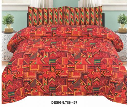 Red Orange Bedding