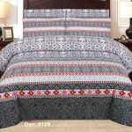 White and Grey Bedding Cover