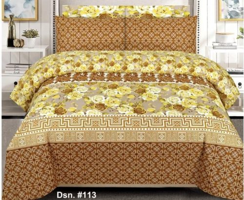 Yellow and Brown Border Bedding