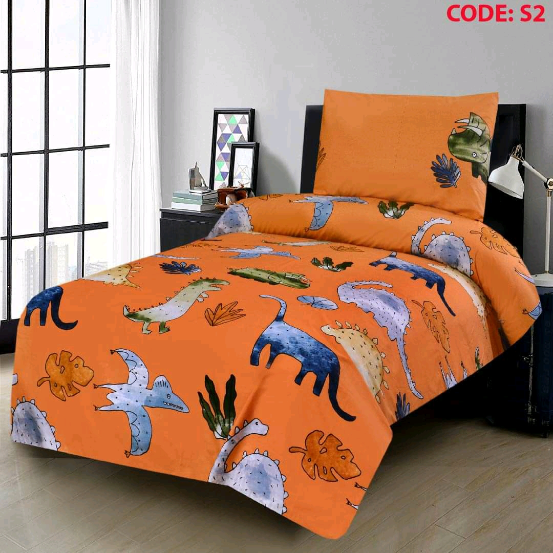 Animals Kids Bed Sheets With 2 Pillow Covers