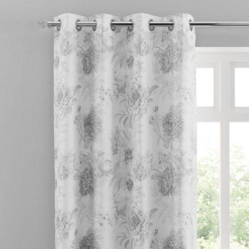 Black Flowers Curtains