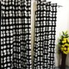 Black and White Dots Curtain