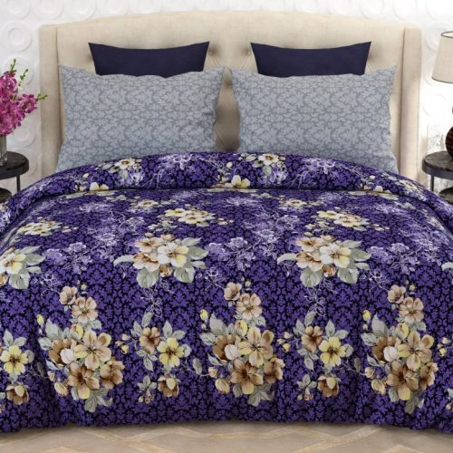 Blue Spot Yellow Flowers Bed Covers
