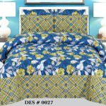 Blue Yellow Sapphire Bedding Comforter Set ( 6 – 8 PCS )