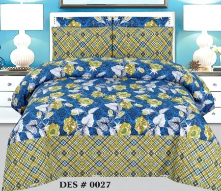 Blue Yellow Sapphire Bedding Comforter Set ( 6 - 8 PCS )