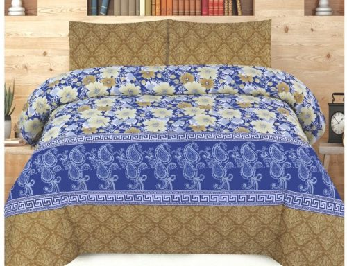 Brown Blue Bed Sheets