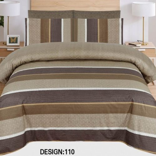 Brown Grey lining Khaadi Comforter Set ( 6 - 8 PCS )