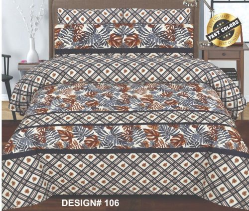 Brown Lining Bed Cover