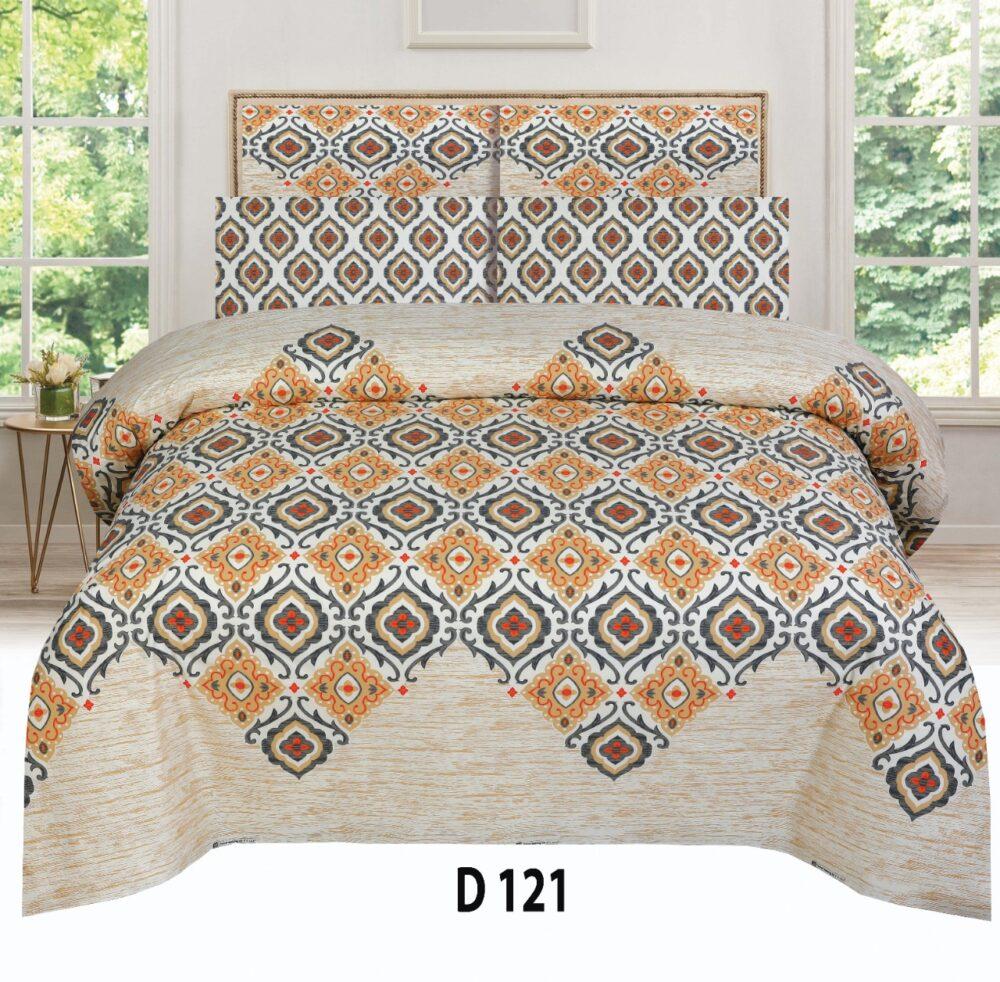 Brown Skin Printed Comforter Set ( 6 PCS – 8 PCS )