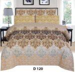 Brown Yellow Printed Comforter Set ( 6 PCS – 8 PCS )