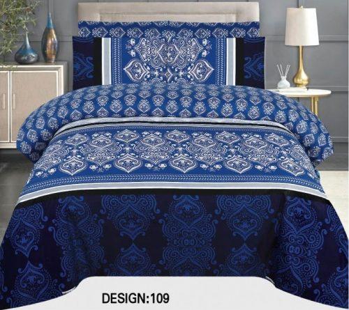 Dark Blue Khaadi Comforter Set ( 6 - 8 PCS )