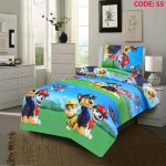 Dogs Cartoon Kids Bed Sheet