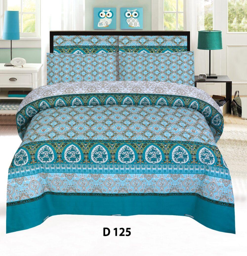 Ferozy Printed Bed Sheet Comforter Set ( 6 PCS – 8 PCS )