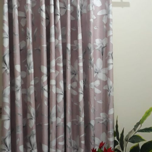 Flowers Printed Blackout Curtains