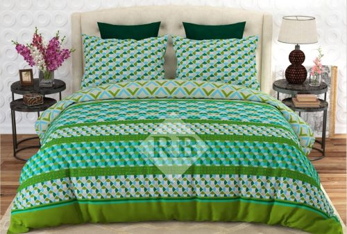 Green Printed Bedding Covers