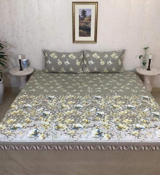 Grey Printed Comforter Set ( 6 PCS – 8 PCS )