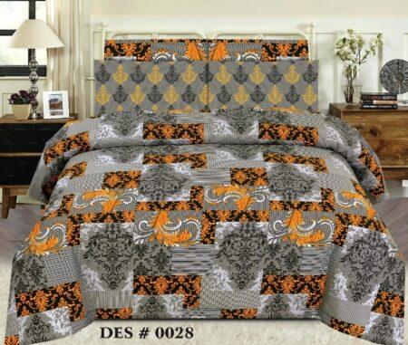 Grey Yellow Sapphire Comforter Set ( 6 - 8 PCS )
