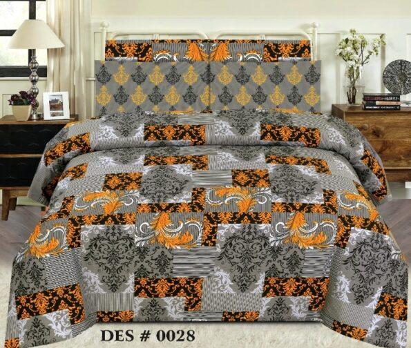 Grey Yellow Sapphire Comforter Set ( 6 – 8 PCS )