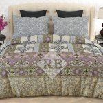 Light Brown Printed Dynasty Comforter Set ( 6 – 8 PCS )