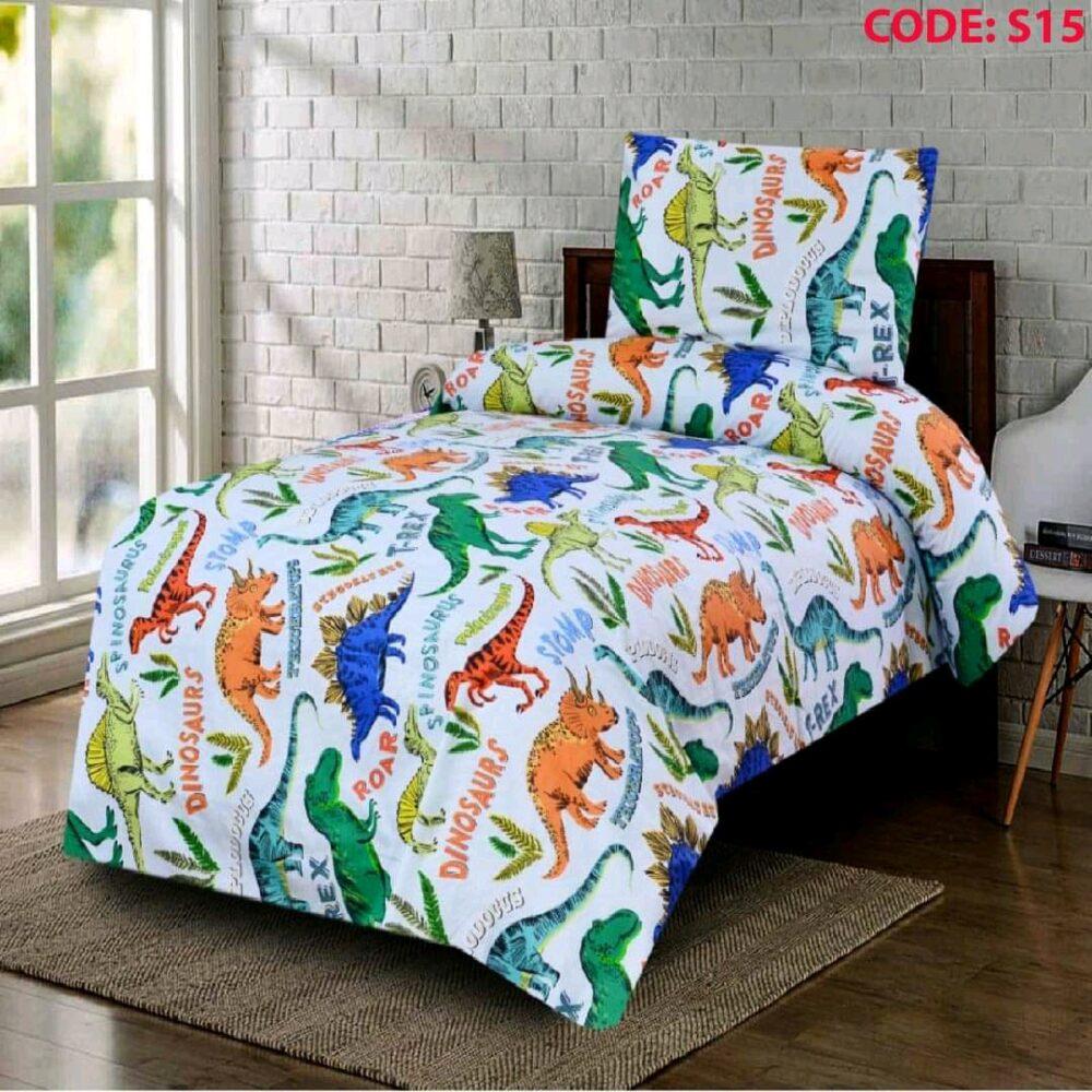 Multi Color Kids Bed Sheet