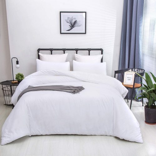 Plain White Comforter Set