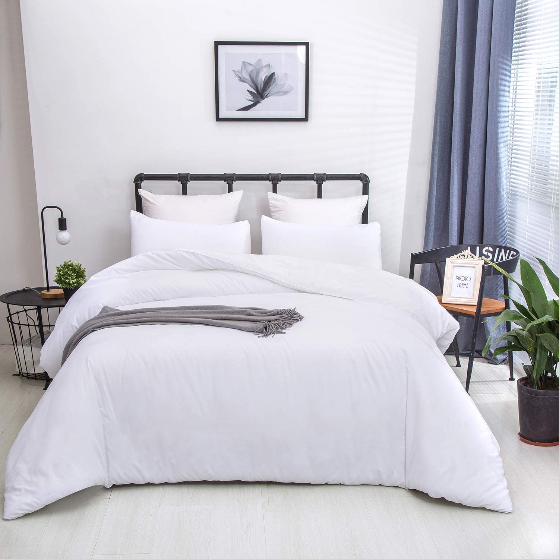 Plain White Comforter Set