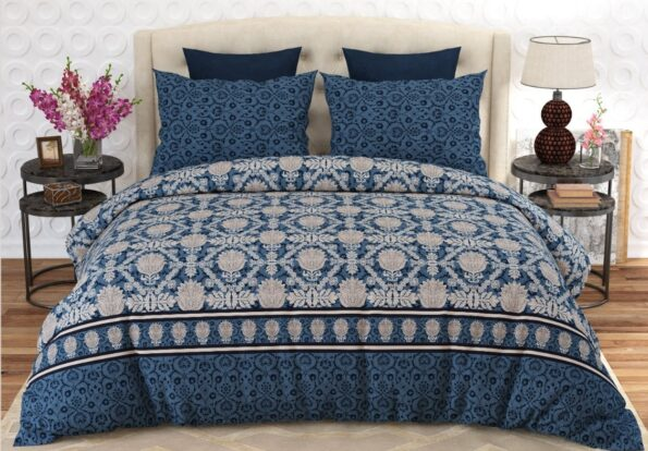 Printed Blue Bed Sheet
