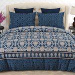 Printed Blue Comforter Set