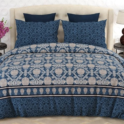 Printed Blue Comforter Set