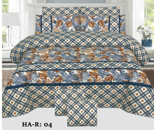 Printed Box Bed Sheet Comforter Set