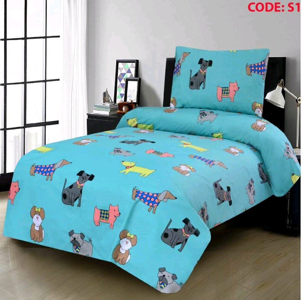 Sky Color Dogs Bed Sheet
