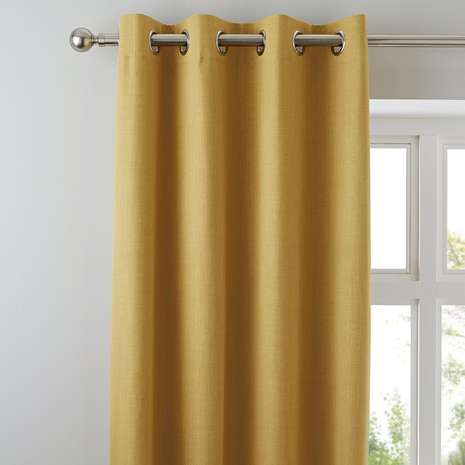 Yellow Blackout Curtains (4)