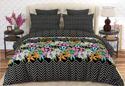 Black Printed Bed Sheets