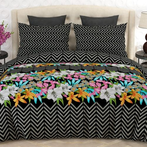 Black Printed Bed Sheets