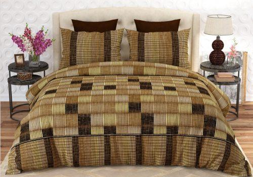 Dark Light Brown Box Bed Sheet