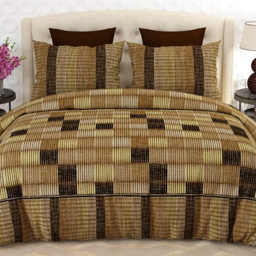 Dark Light Brown Box Bed Sheet