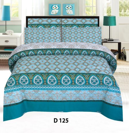 Feroze Printed Bed Sheet with 2 Pillow Covers
