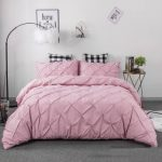 Baby Pink Double Quilt Cover Set 8PCS Design