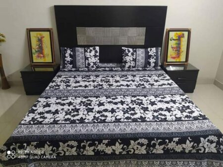 Black White Bed Cover