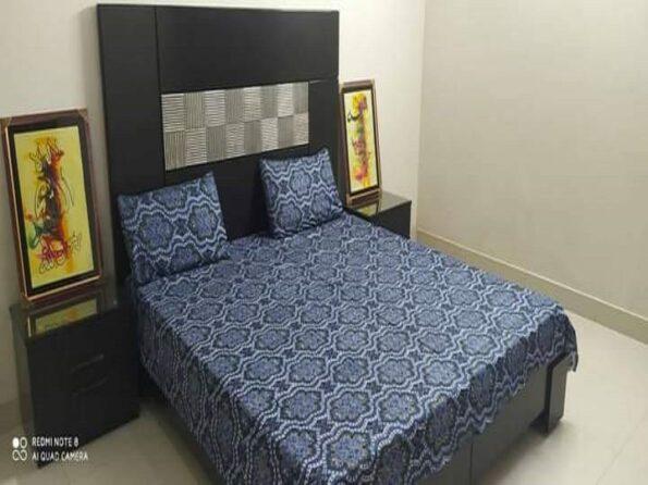 Blue Brown Golden Crystal Bedding