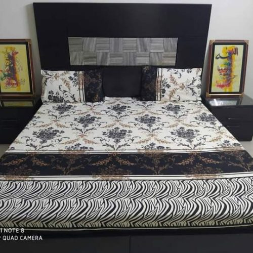 Brown Black Box Brown Golden Crystal Bedding