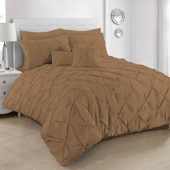 Brown Double Quilt Cover Set 8PCS Design