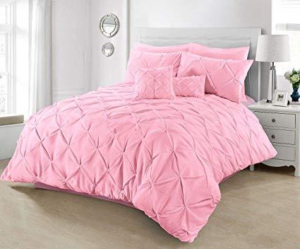 Diamond Baby Pink Duvet Cover Set 8PCS