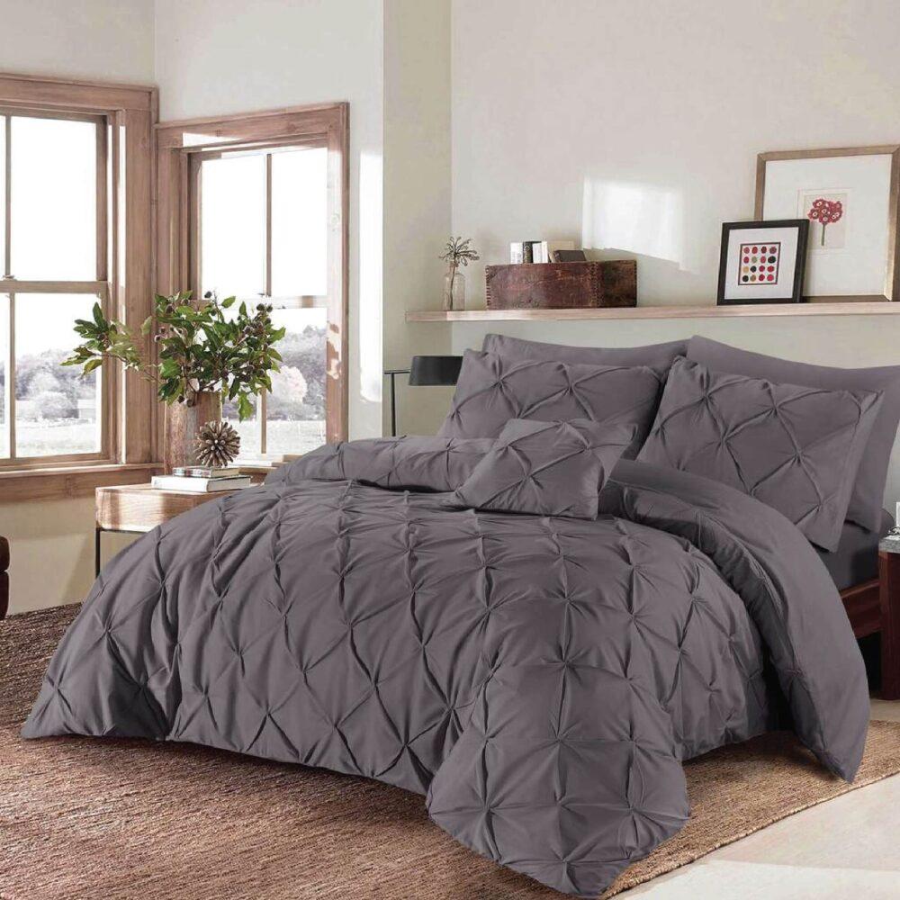 Diamond Grey Duvet Cover Set 8PCS