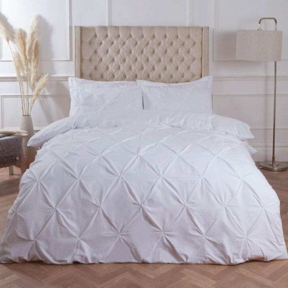 Diamond White Duvet Cover Set 8PCS